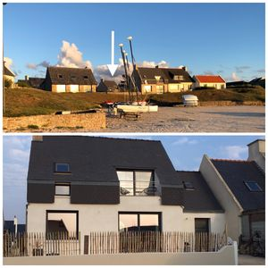 Photo for Seaview awakening, in the heart of Porsguen, 3 bedrooms, fireplace, enclosed garden