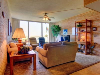 Photo for Fabulous 2 bedroom 2 bath condo right on the Ship Channel! Private Pier!