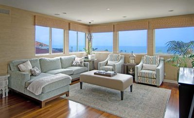Photo for Chic 5 Star Prop, Panoramic Ocean Views, Steps to Sand, 5 Minute Walk to Town