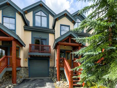 Photo for Ski in Ski Out Four Bedroom Townhome located on the 4 O'clock Ski Run!