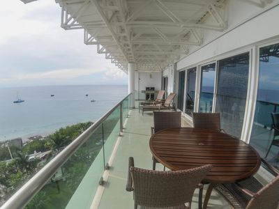 Photo for The perfect 2 BR Penthouse with Ocean views, Pool, Tennis & Gym, near downtown