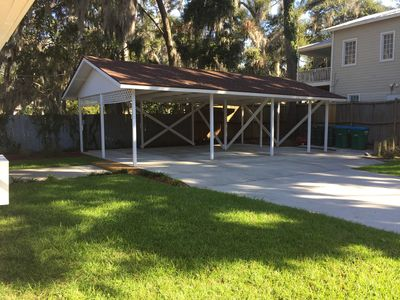 Carport for two cars and golf cart