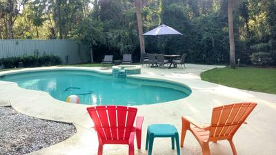 Photo for Lovely Beach House w/FREE Heated Pool In Fully Fenced Back Yard! Pet Friendly