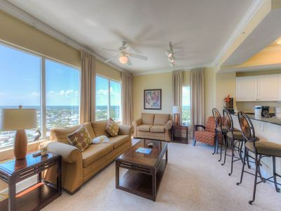 Photo for Picturesque 17th-floor condo! Free DVD rentals! Minutes to Pier Park Shopping Center!