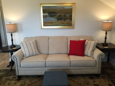 Sleeper sofa and original oil painting