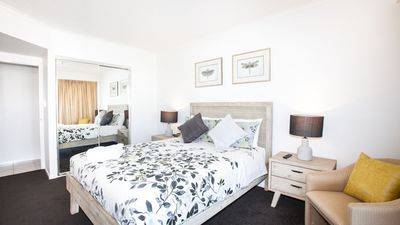 Photo for Two Bedroom with River View*Wifi*Parking*Pool*Walk to Ferry & Shops