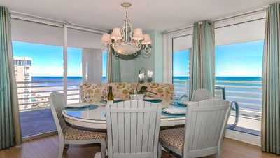 Seaside dining at it's best. Walls of Windows ... Ocean views abound.