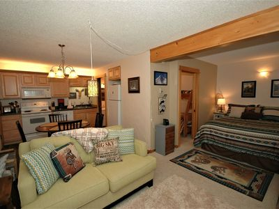 Photo for LAST MIN SPECIAL! Peaceful, Rustic, Modern Condo, Views, Walking distance skiing