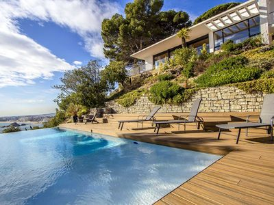 Photo for Catalunya Casas: Magnificent Villa Blanes with views of Costa Brava and 1km to the beach!