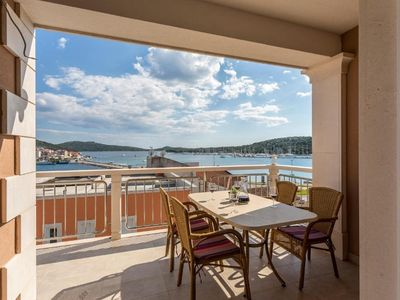 Photo for Two bedroom apartment with terrace and sea view Rogoznica (A-17997-a)