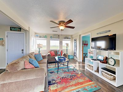 Living Room - Welcome to Galveston! The open-concept floor plan is great for groups and large families.