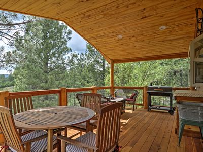 Photo for Pagosa Springs Home w/Covered Deck on Greenbelt!