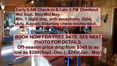 Photo for Price drop $549 to low as $299(Sept-Dec), $249(Jan-May) 2 nite min. w/exceptions