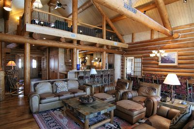 Great Room and Loft above Kitchen