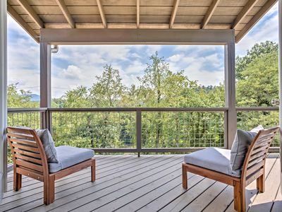 Photo for 'Riverview' Home w/Decks on the Asheville Greenway