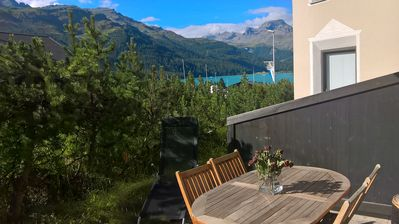 Photo for apartment with sunny terrace overlooking the mountains and the lake