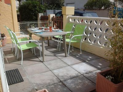 """Photo for Holiday home 50 meters from the beautiful """"Blue Flag"""" beach of Narbonne Plage."""