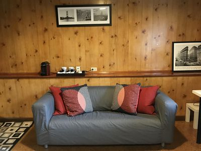 Relaxing Loveseat in the room