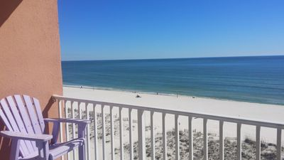 Enjoy the beach without ever stepping on the beach.  6th floor balcony.