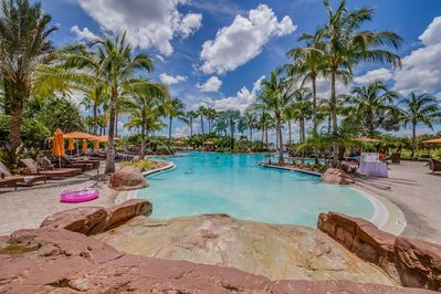 Paradise found! Swim, sun, play: However you relax, you'll enjoy it twice as much at the stunning grand resort pool.