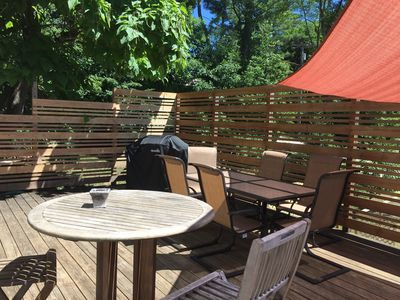 Photo for BBQ on the deck around the corner from Lime Rock Park