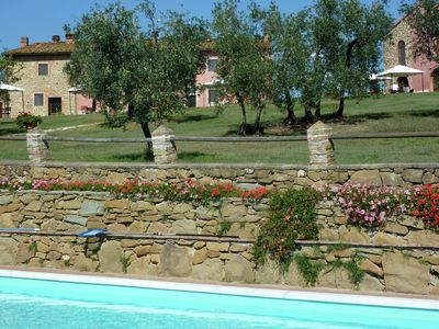 Photo for Farmhouse with shared pool among the vineyards and olive groves