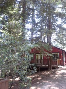 Photo for Whispering Pines Cobbin on 1/2 acre, Pet friendly.