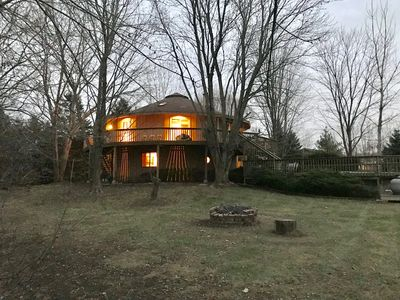 Photo for Tree House like home, Pool, grill, fire pit, bicycles, Games, toys, Wifi