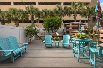 Beautiful private deck for your enjoyment!