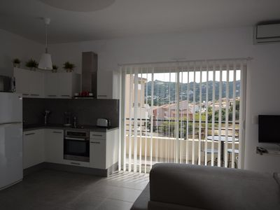 Photo for CALVI T2 BRIGHT NEW, WIFI, 5 MINUTES BEACH AND CENTER, 4 PERS, 1 BEDROOM