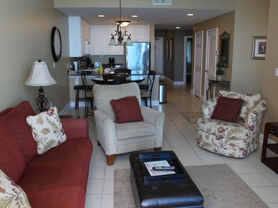 Photo for Lighthouse 1405 - Updated condo! Floor to ceiling sliding glass doors. 2BD, plus kid's bunk room.