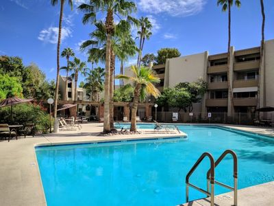 Photo for 2 bedroom condo near OLD TOWN! (Heated pool)