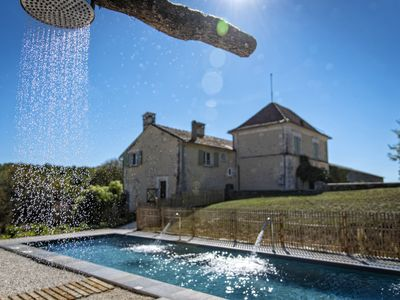 Photo for Large Chic House (4/8) Quiet on 40 Ha of Nature Heated Pool Horses