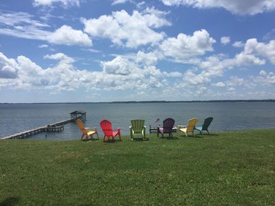 Photo for Waterfront River Home- Chesapeake Bay, Deltaville, VA. Pier and private beach