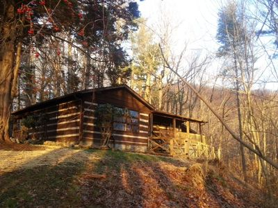 Photo for Non- Smokers / Downtown Boone Log Cabin Hot Tub and Mountain Views- Dog Friendly