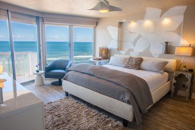 You can hear the waves crashing on the shore as you wake to this incredible view
