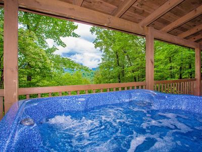 Photo for Firefly Vista - Spectacular Mountain View - Secluded Cabin with Hot Tub