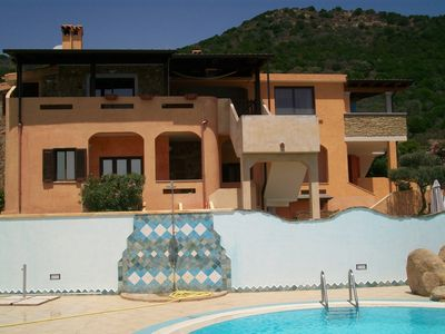 Photo for CHIA house villa stunning sea view terrace, swimming pool, wi fi free