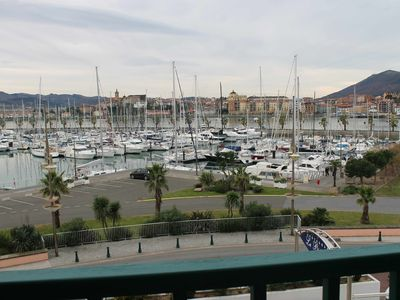 Photo for T2 with large balcony, nice view of the marina and Spain