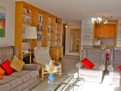 Photo for Villars Cosy Central Holiday Rental Apartment- 600m from Ski Lift