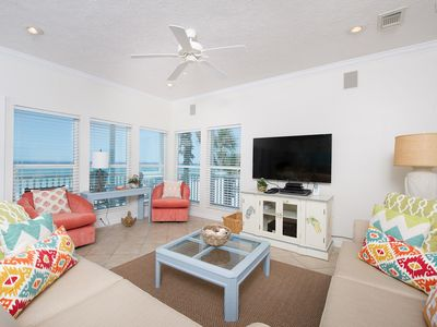 Photo for Beachfront-Wraparound Deck steps to sand-2 car garage and beach set-up included