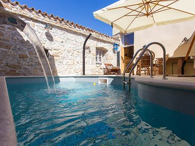 Photo for Loving stone house with private pool, 2 bedrooms, 2 bathrooms, washing machine, WiFi, air conditioning, outdoor shower and small window with views