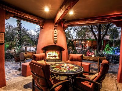 12+ bedrooms Custom Home w/ 2 casita's, 18-hole chipping course & man-cave