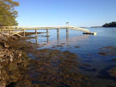 Photo for Spectacular views and a private beach at your doorstep. New 95' DOCK & mooring!