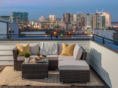 Photo for Stylish Nashville Townhome with Skyline Views from Rooftop Deck