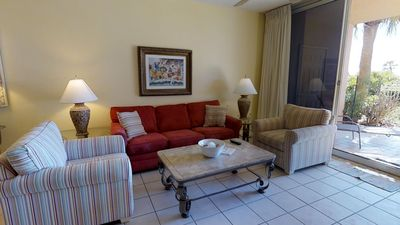 Photo for Ground Floor Condo-Gulf Front Walk-out Patio with all Beach Club Perks Included! Doral 107