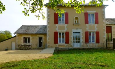 Photo for Cottage near Poitiers, sleeps 14, quiet, wooded, enclosed, WIFI, well equipped