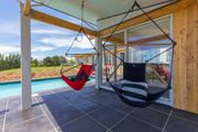 Rural paradise studio with solar heated pool.