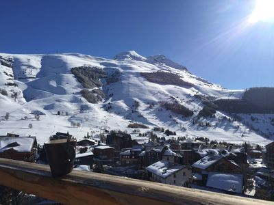 Photo for 2 rooms near the slopes, resort center, south terrace, WiFi, panoramic view,