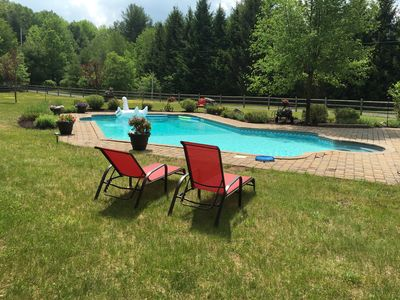 Front Yard Pool, Lounge Chair, Open Acres of grass for games